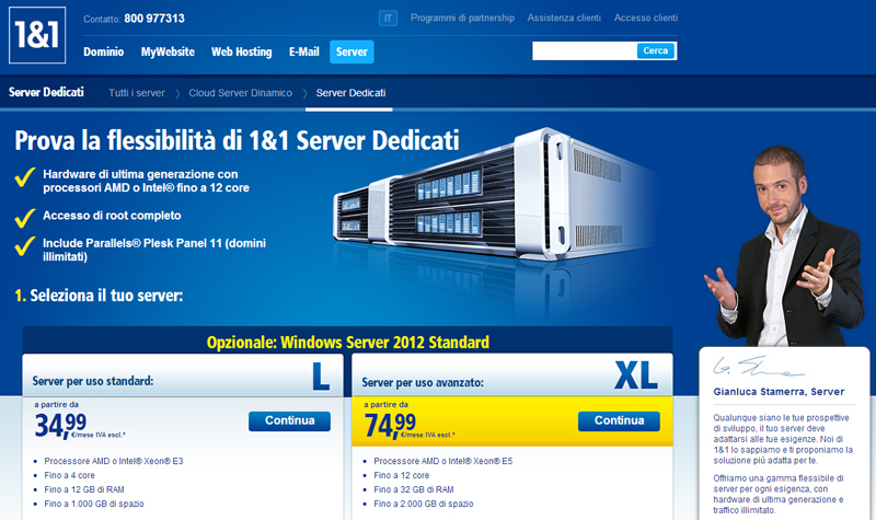 Gianluca Stamerra - Market Manager - 1&1 Dedicated Server
