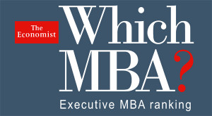 The Economist Executive MBA ranking. IE Business School ranked N° 2