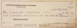 Harvard Business Review refunded Gianluca Stamerra